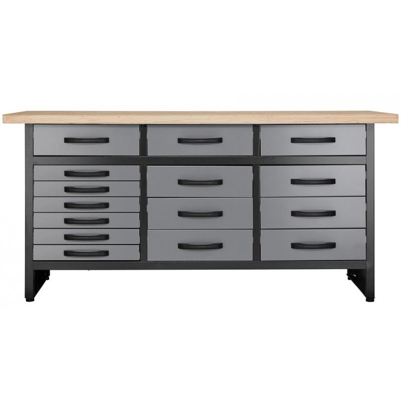 Werkbank mit 15 Schubladen Profiqualität  für Werkstatt