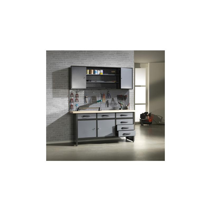 Werkbankset mit 6 Schubladen Profiqualität inklusiv Hängeschrank