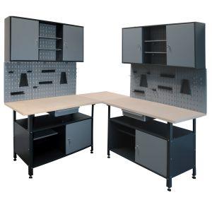 Werkbank Set 6 tlg. Werkstattset Werktisch Montagetisch